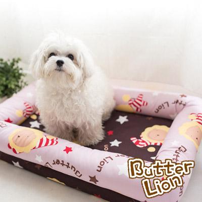 【奶油獅】台灣製造-保暖布套可拆洗-搖滾星星寵物記憶床墊-中(10kg以下適用)-淡紫咖啡