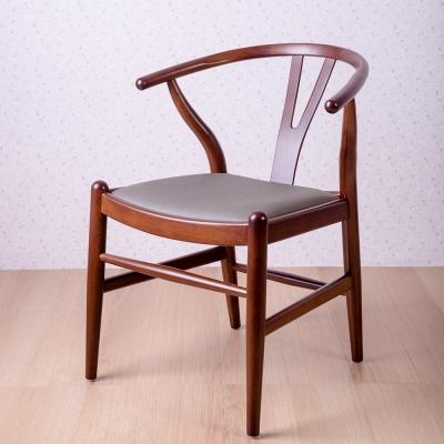 簡約風 美爾頓核桃灰餐椅-58x57x74cm
