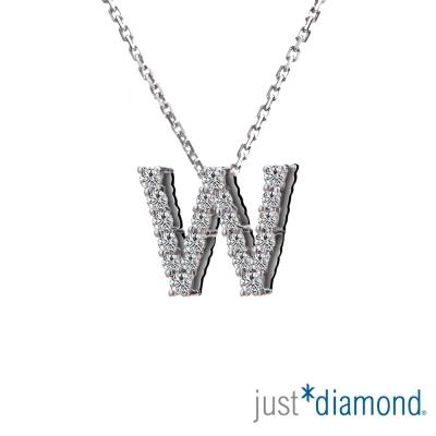 Just Diamond Love Words系列18K金鑽石墜子-W