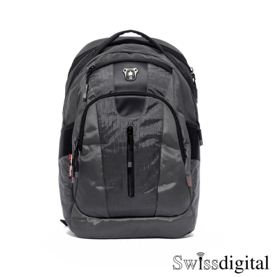 Swissdigital-城市漫遊傲步後背包-灰