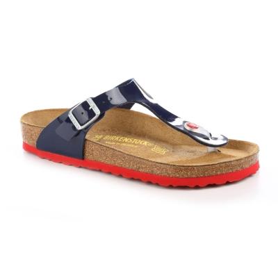 勃肯BIRKENSTOCK 845881。吉薩 夾腳拖鞋(深藍漆皮)