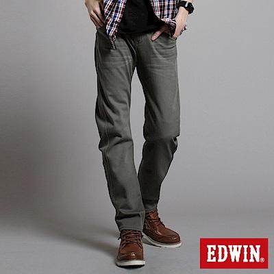 【EDWIN】衝鋒魔力 W-F EF迷彩窄直筒保溫褲-男款(橄欖綠)