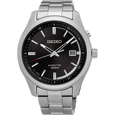 SEIKO KINETIC 都會人動電能腕錶(SKA719P1)-黑/42mm