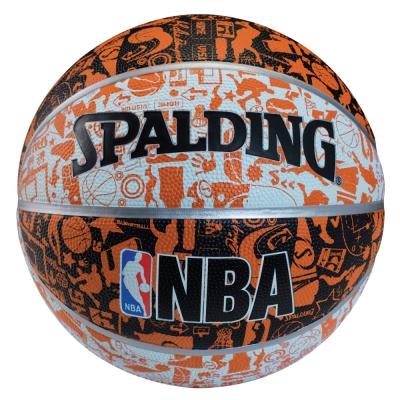 SPALDING NBA 塗鴉系列 7號 白/黑/橘