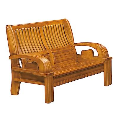 品家居 比格魯檜木實木雙人椅-144x79x100cm-免組