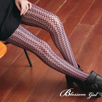Blossom Gal 日韓風神秘誘惑不規則網點網襪(共七色)