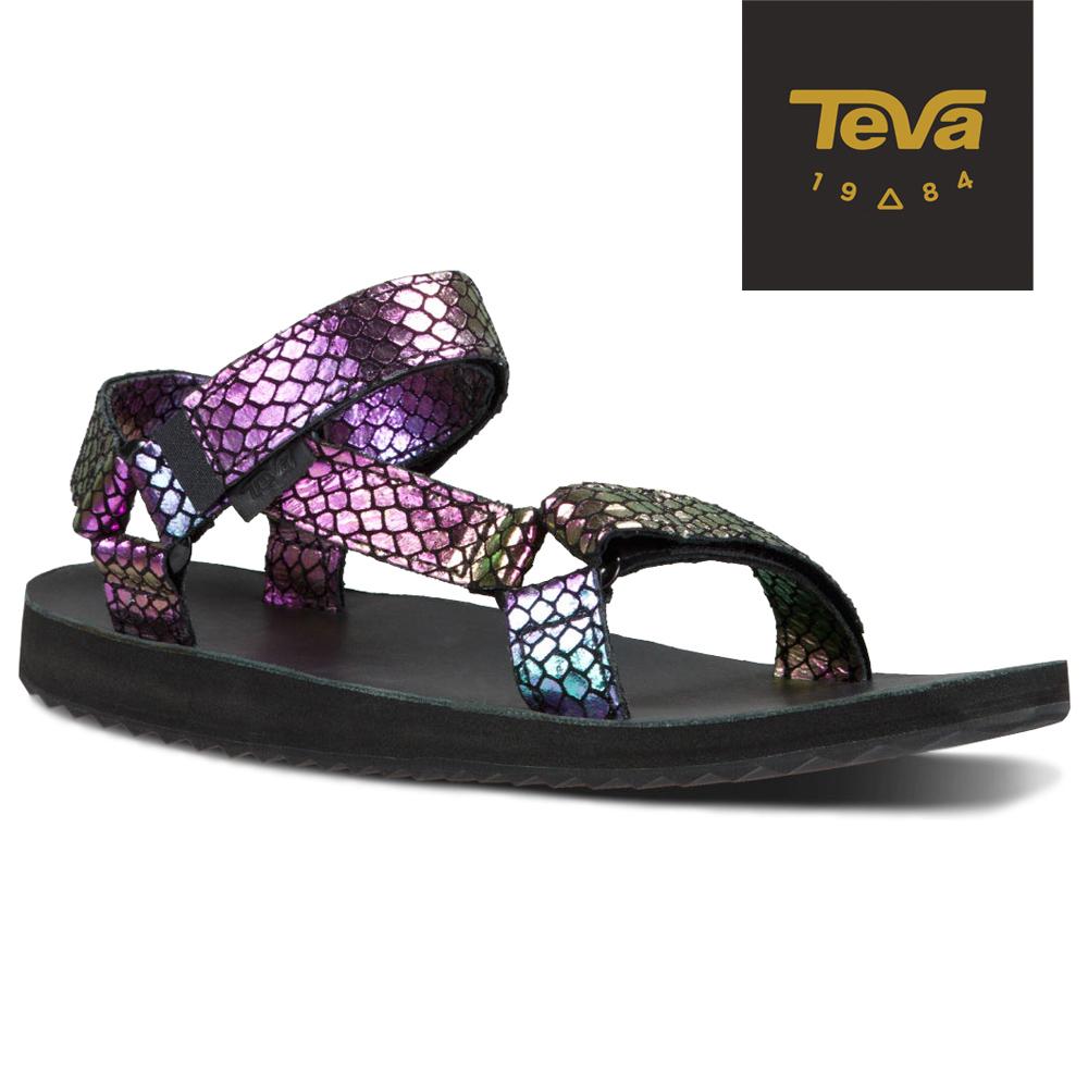 TEVA 美國-女 Original Universal 緹花織帶涼鞋 (耀眼紫)