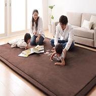 日式大尺寸加厚珊瑚絨地毯