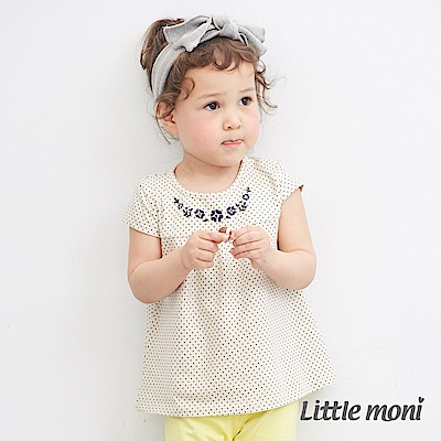 Little moni 領口繡花上衣 (2色可選)