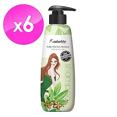(即期品)Kuskuching貓吻 安地斯堅果油香氛洗髮精600mlX6入
