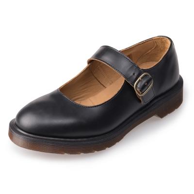 Dr.Martens-復古Indica真皮瑪莉珍鞋-女款-黑