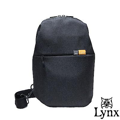 Lynx - 山貓質男防撥水休閒單肩包-黑