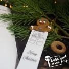 禮物myBookmark手工書籤-愛閱讀的薑餅人