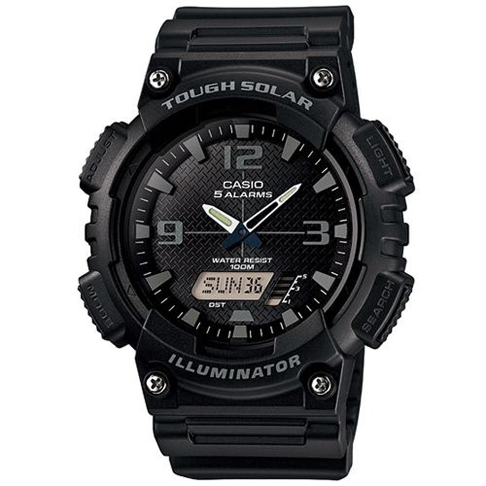 CASIO 新一代光動遊俠雙顯運動錶(AQ-S810W-1A2)-黑面X灰時刻/52mm