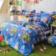 義大利Fancy Belle 熊比冒險趣 加大貢緞四件式防蹣抗菌舖棉兩用被床包組 product thumbnail 1
