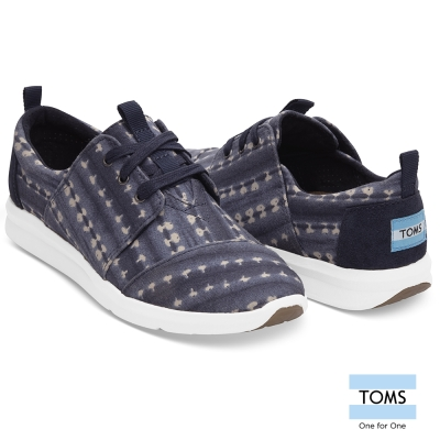 TOMS 條紋蠟染帆布休閒鞋-女款