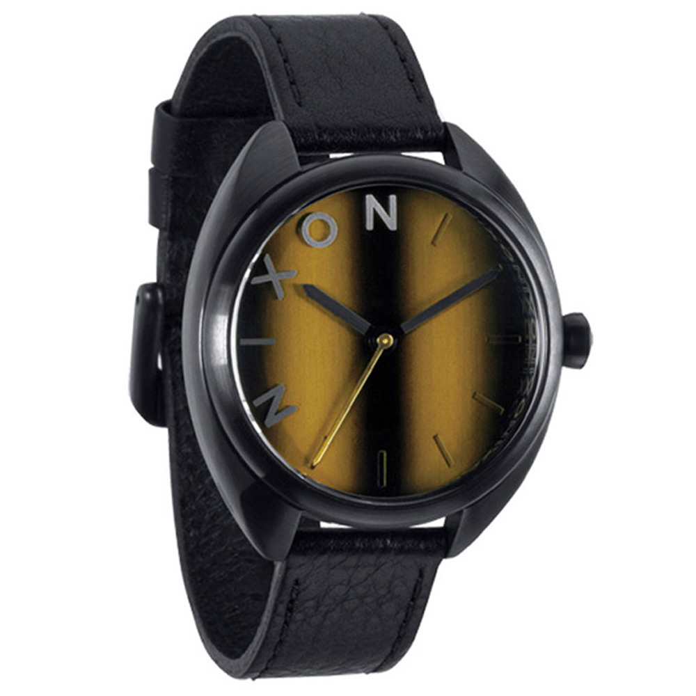 NIXON The WIT都會新穎時尚腕錶-咖啡/37mm