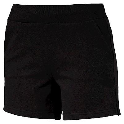 PUMA-女性基本系列小跳豹短褲-黑色-歐規