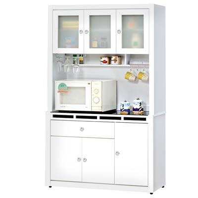 時尚屋裕隆貝多美白色4尺碗櫃組