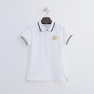 Hang Ten - 女裝 - 學院標章POLO-白色