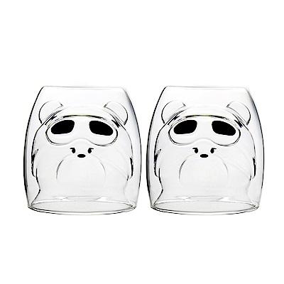 FUSHIMA富島 2018年度限定-雙層耐熱玻璃杯Cutie熊250ML*2入