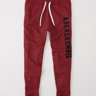 AF a&f Abercrombie & Fitch 長褲 紅色 0167