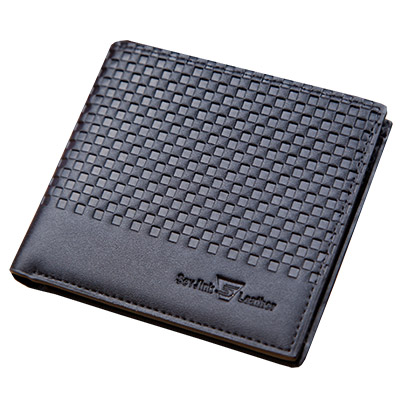 A-accessories-黑色立體小格紋英倫風短夾-2款任選
