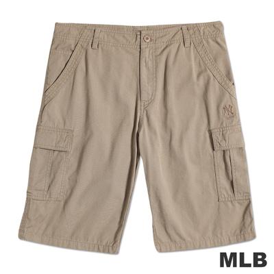 MLB-紐約洋基隊電繡休閒短褲-淺卡其(男)