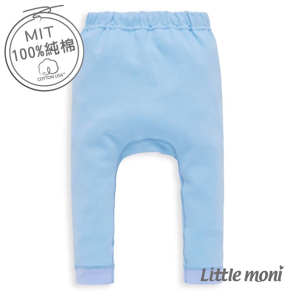 Little moni 純棉家居系列素面幼兒睡褲 藍