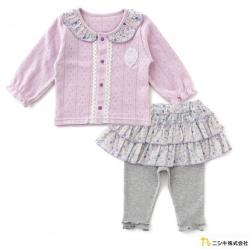 Nishiki 日本株式會社 薰衣紫針織碎花套裝2件組