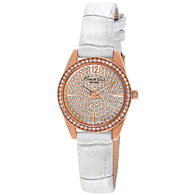 Kenneth Cole 璀璨時刻晶鑽時尚腕錶-玫瑰金/28mm
