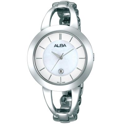 ALBA Fashion Lady 浪漫絮語手鍊女錶-珍珠貝x銀/34mm
