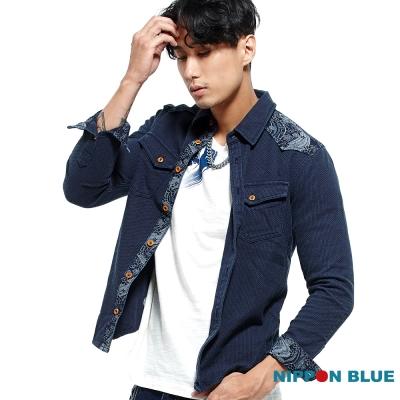 日本藍 BLUE WAY 日本藍和柄INDIGO長袖襯衫