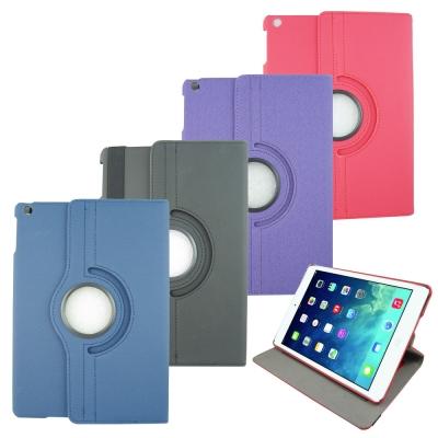 DW-L59斜紋旋轉iPad Air(iPad5)平板皮套(加贈螢幕保護貼)
