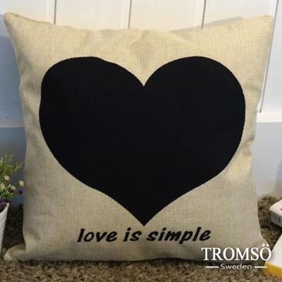 TROMSO品味英倫棉麻抱枕-簡單之愛