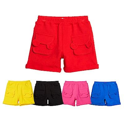 WHY AND 1/2 mini 普普熊口袋棉質萊卡短褲 1Y~4Y 多色可選