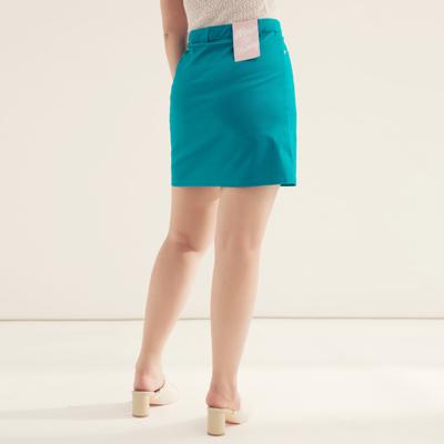 AIR SPACE PLUS 中大尺碼 舒適彈力包臀褲裙(藍)!