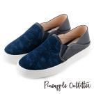 Pineapple Outfitter 美式休閒  街頭潮流虎斑布真皮懶人鞋-深藍