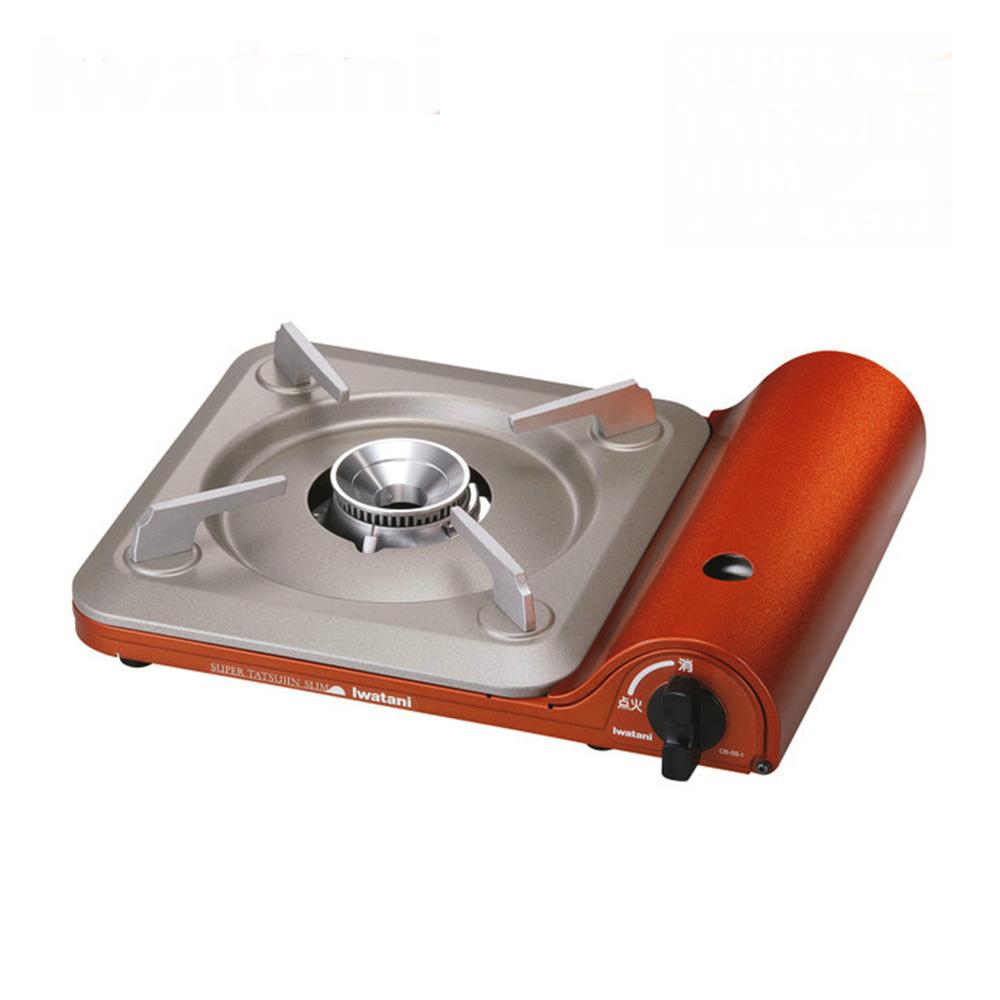 日本岩谷Iwatani 超薄高效能便攜式卡式爐3.3Kw CB-SS-1 橙銅色