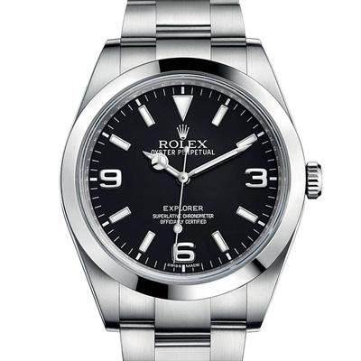 ROLEX 勞力士214270 新款藍夜光探險家系列腕錶-黑/39mm