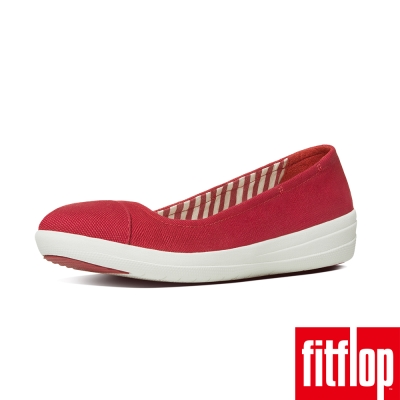 FitFlop TM-F-SPORTY TM BALLERINA  CANVAS-紅