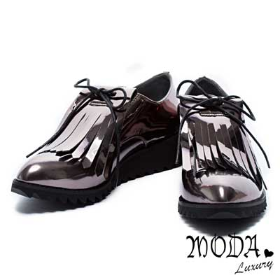 休閒鞋 MODA Luxury 流蘇造型漆皮中性休閒鞋-銅