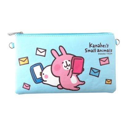 Kanahei卡娜赫拉皮質橫式手機袋/萬用包/手腕袋_郵件