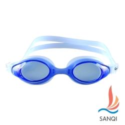 SANQI三奇 夏日必備抗UV防霧休閒泳鏡(4200-藍F)