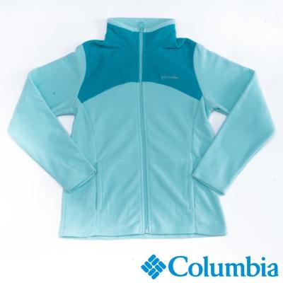 Columbia哥倫比亞  女款-保暖刷毛夾克-亮淺藍 UAR04950BB