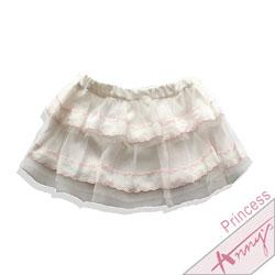 可愛網紗蕾絲蛋糕迷你裙*1113粉