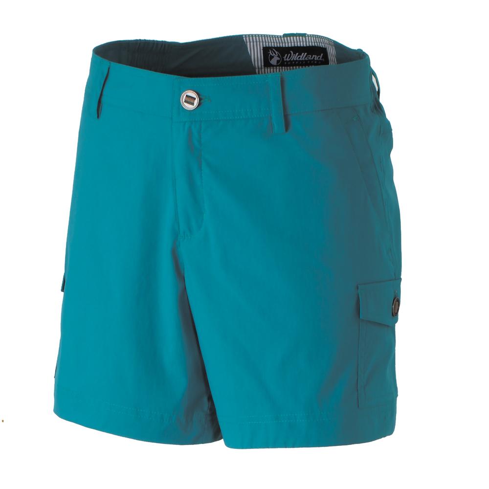 【Wildland 荒野】女彈性抗UV短褲-藍