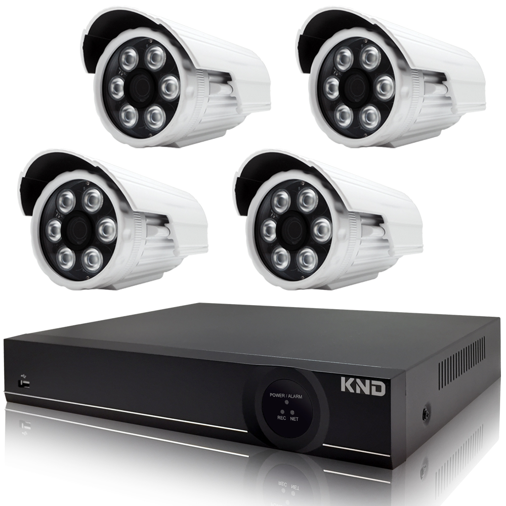 奇巧 4路AHD正1080P台製雙硬碟款主機-含SONY 200萬攝影機x4