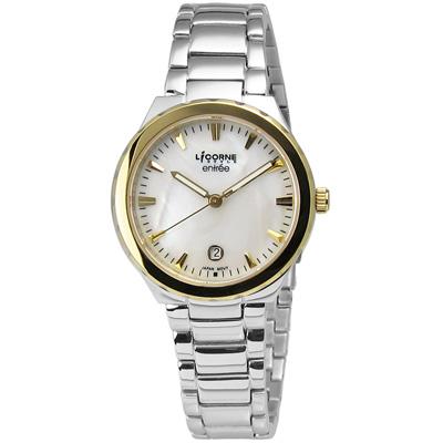 LICORNE entree 簡約俐落魅力彩貝不鏽鋼腕錶 白色x金色 / 30mm
