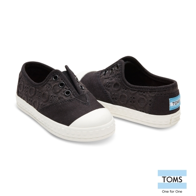 TOMS 立體雕花懶人鞋-幼童款